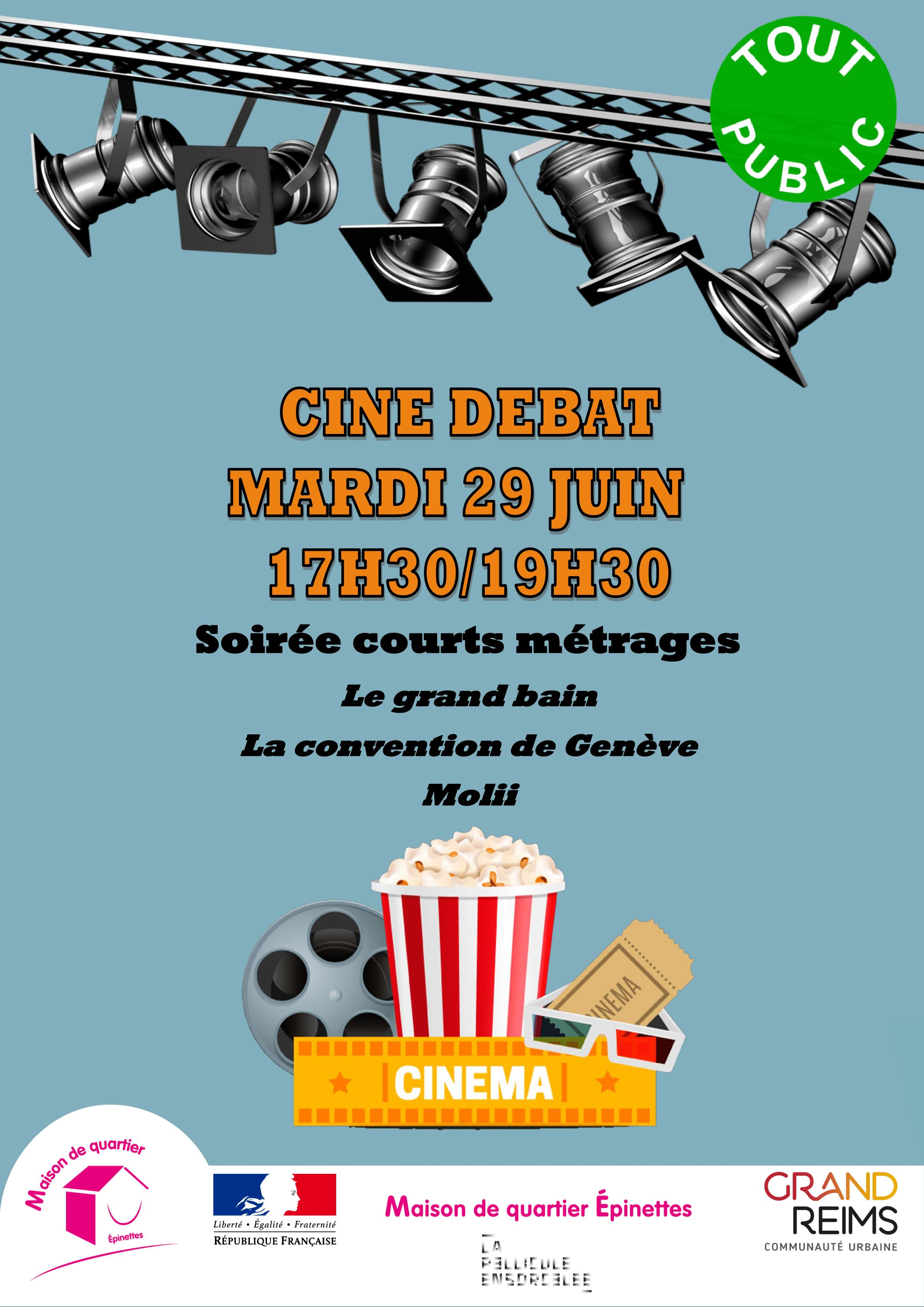 """Affiche Ciné Débat """"Mieux vivre ensemble"""" Epinettes 29.06.21"""