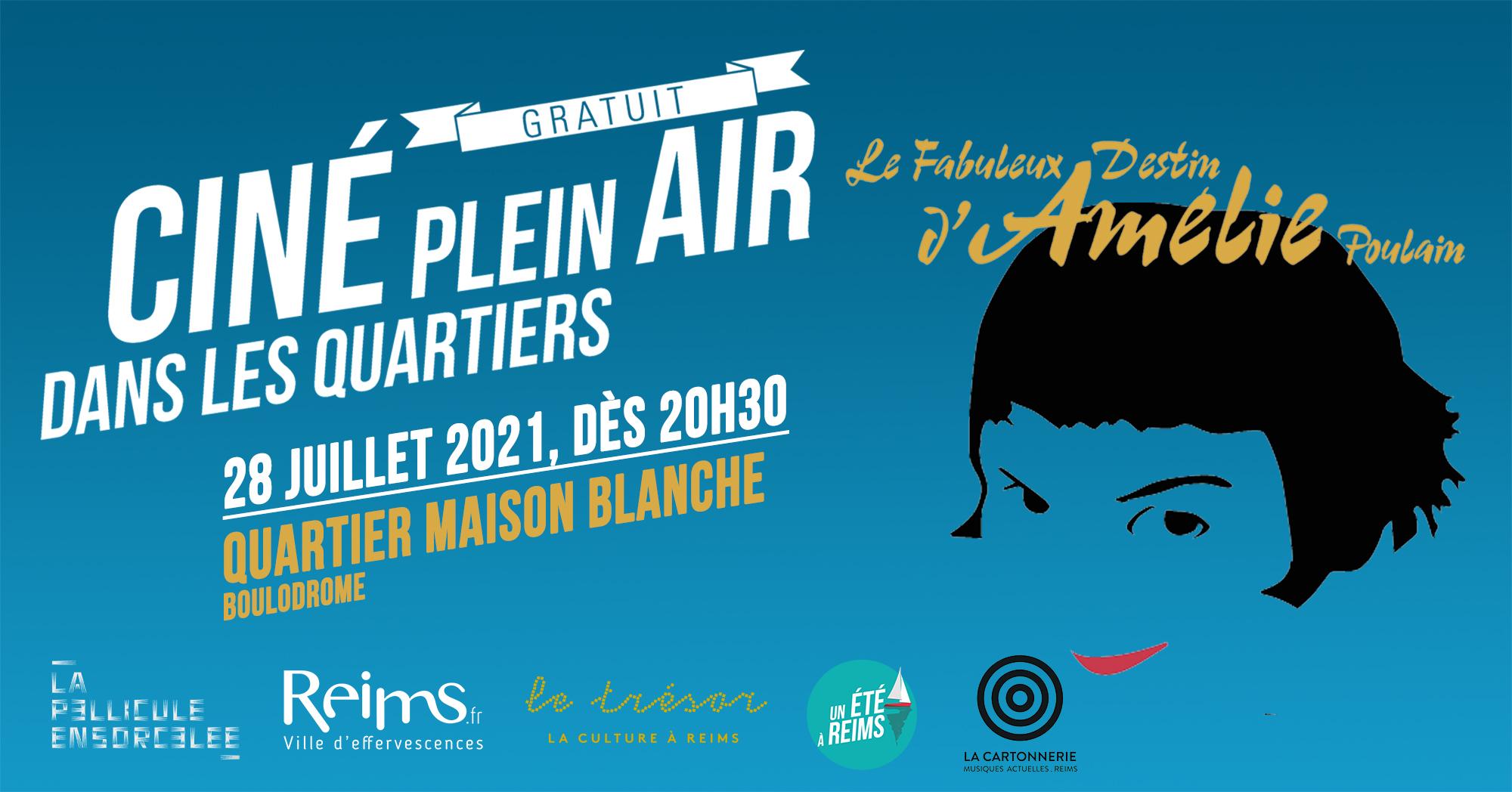 Bannière Ciné Plein Air Le Fabuleux Destin d'Amélie Poulain