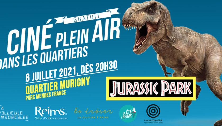 Bannière Ciné Plein Air Jurassic Park