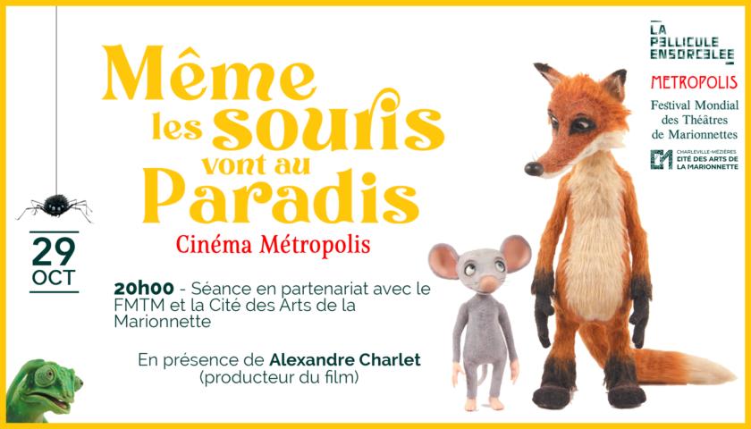 Bannière Projection exceptionnelle Même les souris vont au paradis